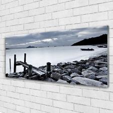 Acrylglasbilder Wandbilder aus Plexiglas® 125x50 Meer Strand Steine Landschaft