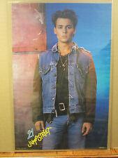 vintage 1987 21 Jump Street original Johnny Depp movie poster 8768