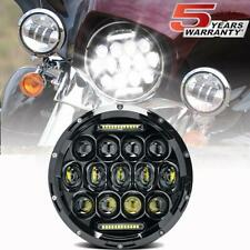 "7"" inch Round LED Projector Black Headlight for Jeep Wrangler JK TJ Motorcycle"