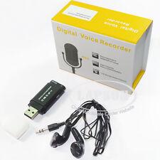 8GB Mini USB Flash Disc Digital Voice Recorder With MP3 Music Player FM Radio AU