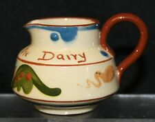 More details for small motto ware jug - 'fresh from the dairy' - aller vale