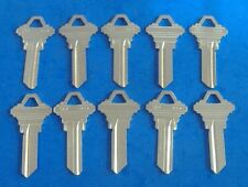 10 PC LOCKSMITH SC1 KEY BLANKS FITS SCHLAGE NICKEL CHROME PLATED BRS USA MADE