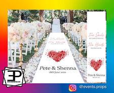 "Personalised Bespoke Custom Printed Wedding Aisle Runner Carpet  ""Two Souls"""