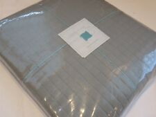 Ann Gish Ready to Bed Quilted BoxStitch King Coverlet Linen Cotton Grey $560