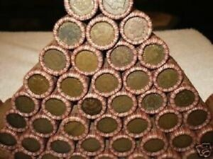 Sealed Wheat Penny Rolls with Indian Heads Showing Rare Steel Mix Cent Coins Lot
