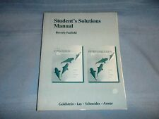 Calculus & It's Apps Student's Solution Manual Fusfield Softcover Textbook Used