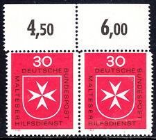 51) Bund Zähnungsabart Mi. Nr. 600 Oberrandpaar oberer Kammzähnung versetzt RRR