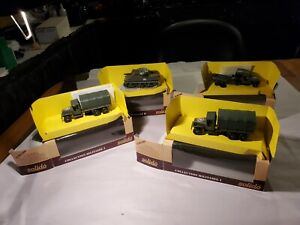 Solido (France) Lot Of 4 Military Vehicles # 6032/6041/6071 All Unused Org Boxes
