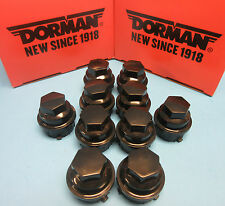 10 Wheel Nut Cover Replaces GM OEM # 9593028 for Buick Chevy GMC Pontiac Black