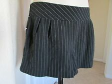 NEW MIMI CHICA SIZE XS BLACK-WHITE STRIPED POCKET DRESSY MINI SHORTS