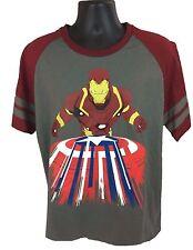 Iron Man Captain America Shield Civil War Marvel Gray Men's T-Shirt Size XL