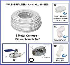 Wasser Anschluss SET 3/4 Zoll Absperrhahn Schlauch  Winkel Kupplung Osmoseanlage