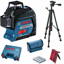 Bosch GLL 3-80 Professional Line Laser in Case With Tripod BT 150 & Batteries