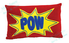 Supersquad 'POW' Superhero Novelty Filled Comic Cushion by Cubby House Kids NEW