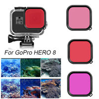 Red Lens Filter 45M Waterproof Case Diving Housing Cover For GoPro Hero 8 Black