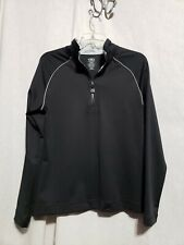 Athletic Works Black 3/4 Zip Athletic Top W/Back Pocket - Sz L - Used Condition