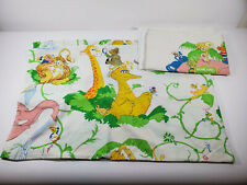 Vintage Sesame Street Top Sheet and 2 Pillow Cases Big Bird Cookie Monster