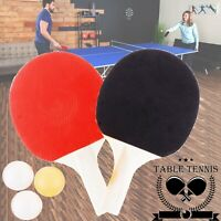 TABLE TENNIS RACKET PING PONG SET 3 Balls Two PADDLE BATS and NET For Kids Sport