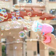 Children Electric Bubble Machine Blowing Bubble Blower Mini Fan Kids Outdoor Toy