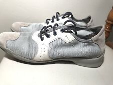 PRADA Gray mesh suede sneakers Women's athletic style shoes 0223 Size 38.5