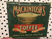 Early vintage Mackintosh's Toffee Tin / Box- nice graphics!
