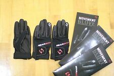 GEARBOX RACQUETBALL GLOVE. MOVEMENT. BLACK. RIGHT HAND MEDIUM M. 3 GLOVES