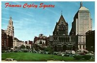 Copley Square Boston Massachusetts From BPL MA Unused Vintage Postcard