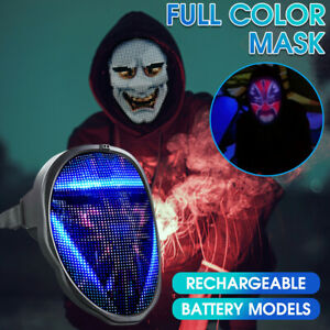 Full Face Shield APP Programmable LED Full Face Guard Party Club Nightclub Prop