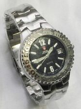 Stainless Steel Band Military Wristwatches with 12-Hour Dial