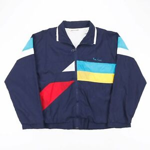 Vintage PIERRE CARDIN  Blue 90s Nylon Casual Shell Jacket Mens M