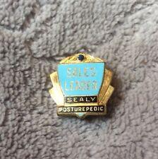sealy posturepedic Sales Leader Pin Vintage Antique With Garnet