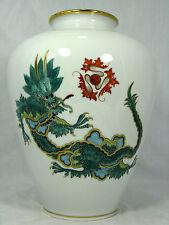 """Schöne Rosenthal Porzellan Vase """" Grüner Ming Drachen """" green dragon  24,5 cm"""