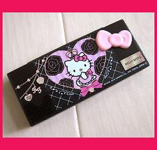 hello kitty pink heart 3D ribbon bow glitter multipurpose false eyelash case box