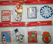 Christmas - Holiday - Money Holders – Set - 6 Cards - 6 Envelopes - Choice - Nip