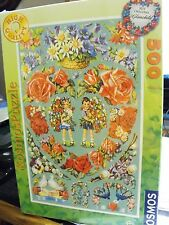 "500 pc Puzzle Kosmos Dated 2008 ""Congratulations""  Flowers & Hearts - German"