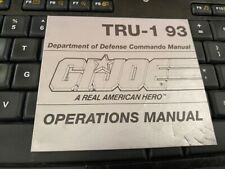 Hasbro gi joe manual 12: TRU- 1 93  RAPID FIRE
