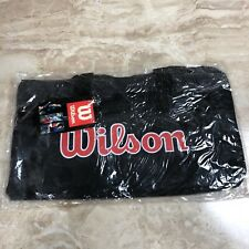 New Vintage Wilson Sports Individual Black Gear Gym Athletic Duffle Bag Retro