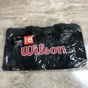 New Vintage Wilson Sports Individual Black Gear Gym Athletic Duffle Bag Retro