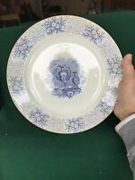 Antique Staffordshire Plate Blue and White