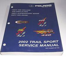 POLARIS USED SNOW SERVICE MANUAL 02 TRAIL SPORT INDY 340 440 500 EDGE9917362
