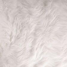 FabricLA Half Yard Shaggy Faux Fake Fur Fabric - White