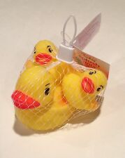 10 Rubber Ducky Bath Toy Party Favor Set of (3) 1 Big & 2 Small Yellow Ducks NEW