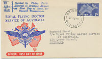 """AU$ AUSTRALIA 1957 Airmail Service """"Royal Flying Doctor"""" superb FDC really flown"""