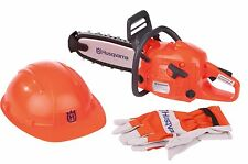 Husqvarna Spielwerkzeug Set Kettensäge Helm Handschuhe NEU ovp 227639