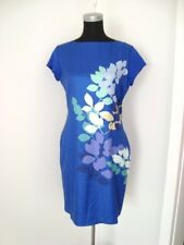Gorgeous BLUE Floral Printed Spring Dress-Size M/10-12-NWT
