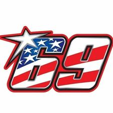 2pcs Kentucky Kid Nicky Hayden #69 USA RIDER Memorial decal Sticker Moto GP