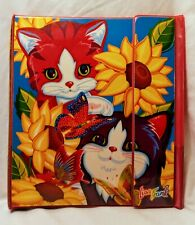 Lisa Frank Early Design Kittens and Butterflies Tri Fold Trapper Keeper Rare 90s