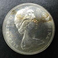 1867-1967 Elizabeth II Canada Silver Dollar .800 AU Quality  RG457