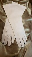 Vintage 1960s Womens Blush Pink Evening Gloves White Size 6 to 7.5