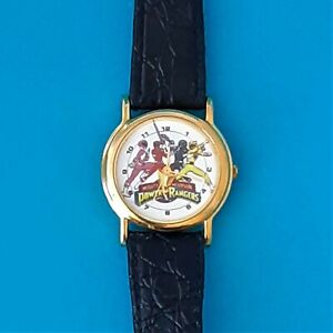 VINTAGE MIGHTY MORPHIN POWER RANGERS WATCH WITH LEATHER BAND NEW BATTERY